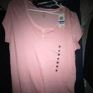 NWT light pink t shirt XL